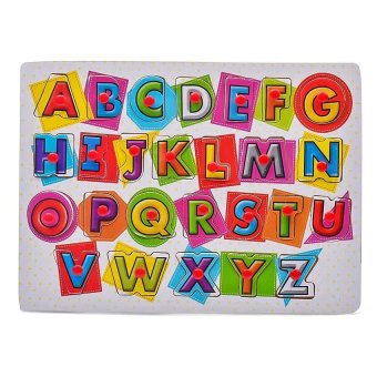 Young Mindz Wooden Alphabet and Numbers Peg Puzzle - 2