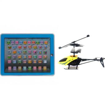 Ypad Multimedia Learning Computer Toy (Blue) with 901 RemoteControl Helicopter (Yellow) Bundle