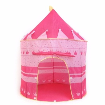 Zover Castle Play Tent Portable Folding Girl's Pop Up PlayhouseCastle Fairy Tale Cubby Child Kids House Pink for Indoor OutdoorHome Room Decor Holiday Gift Price Philippines