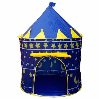 Zover Portable Folding Blue Play Tent Childrens Kids Castle Toy Playhouse Cubby Hut