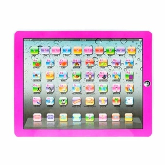 Zover Y-Pad English Children's Toy Computer Tablet w/ 4 Modes,Volume and On/Off Buttons, Learn & Play, Lights & Sounds(Pink)