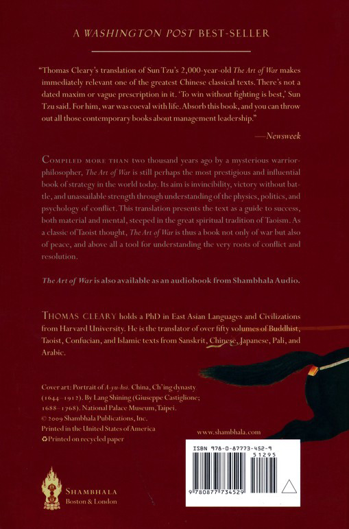 The Art Of War By Sun Tzu Thomas Cleary Translator Paperback Lazada Ph