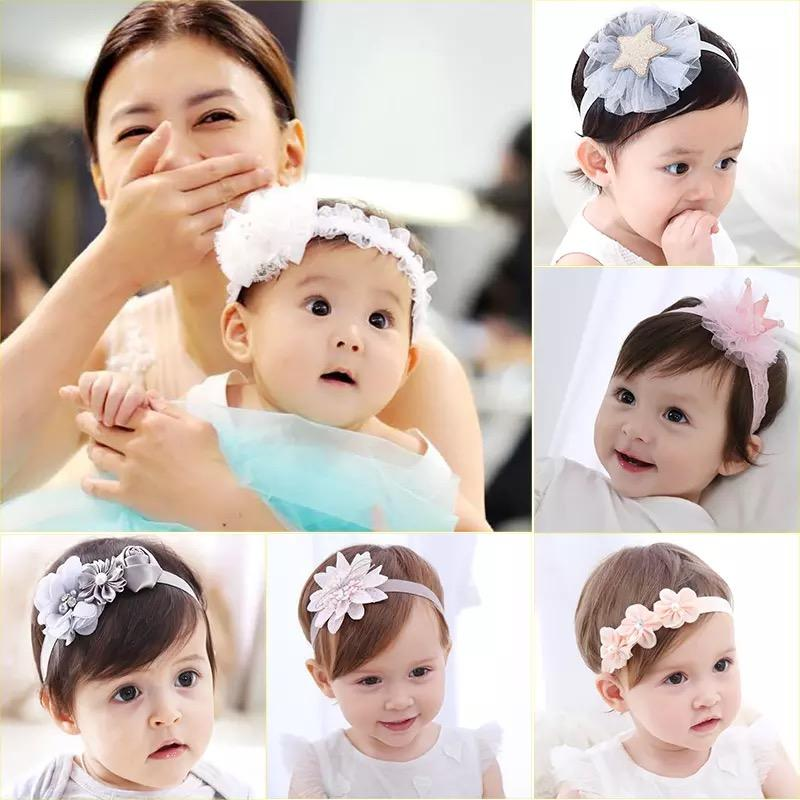 Baby Accessories Kids Girl Baby Headband Toddler Lace Bow Flower Infant Hair Band Accessories Lot