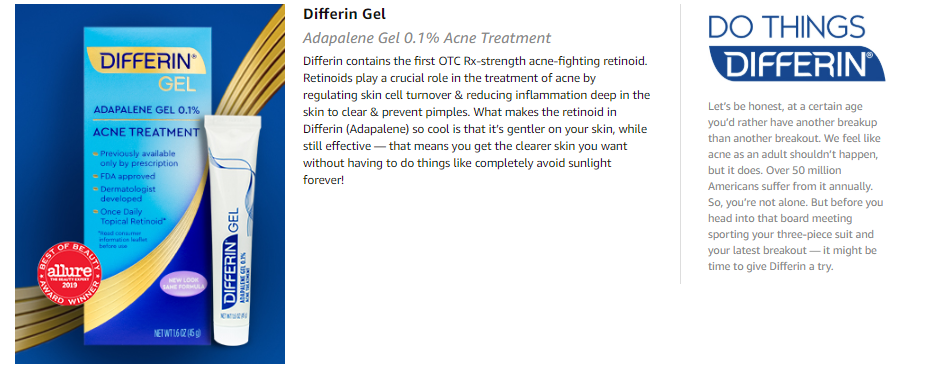 Differin Adapalene Gel 0 1 Acne Treatment 15g 30 Day Supply 0 5 Ounce Lazada Ph