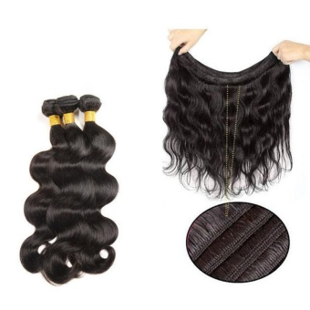 1 Bundle Body Long Curly Wave Lace Closure Human Hair Wig 10 Inch - intl - 2