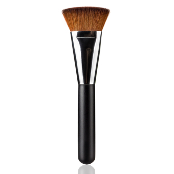 1 pcs Flat Contour Makeup Brush Professional Soft Foundation BrushNylon Hair Blending Face Cheeks Blusher Make Up Tools (Black) -Intl