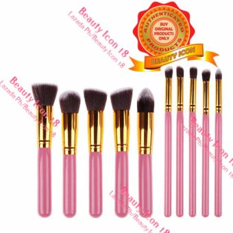 10 Pcs Professional Make Up Foundation Blusher Brushes Set AssortedColor