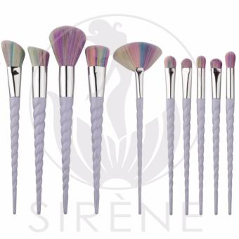 10 Pieces Unicorn Rainbow Professional Make Up Brush Set High Quality Foundation Powder Concealer Tool Set