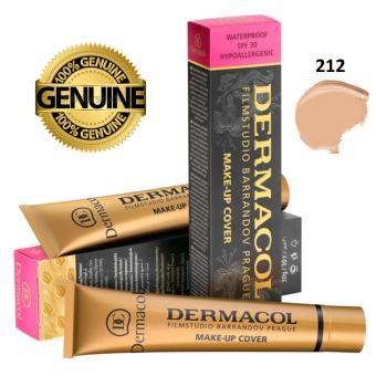 100% AUTHENTIC Dermacol Make up Cover Foundation 30g Shade 212