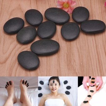 10Pcs Hot Spa Rock Basalt Stone Beauty Stones Massage Lava Natural Stone - intl Price Philippines