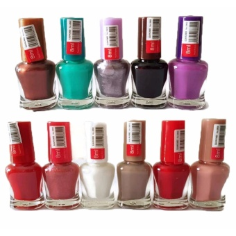 12 Pcs. Assorted Color Nail Polish Set 200g