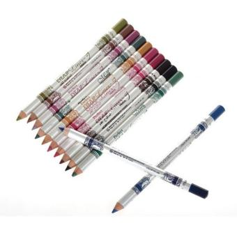 12pcs Hotsale Glitter Eye Shadow Pencil Eye Liner Lipliner MakeupCosmetic Set (Multicolor)