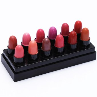 12pcs Waterproof Kiss Proof Lipstick Long Lasting Matte LipglossSet - intl Price Philippines