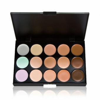 15 Colors Contour Face Cream Makeup Concealer Palette+20Pcs Brushes brown - 4
