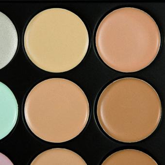 15 Colors Contour Face Cream Makeup Concealer Palette+20Pcs Brushes brown - 3