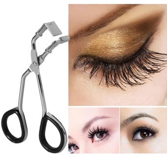 1Pc Stainless Steel Eyelash Curler Lashes Curling Clip Makeup Tool - intl