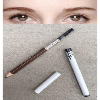 2 in 1 Long-lasting Brown Eyebrow Pencil with Eyebrow Brush Pencil 7g