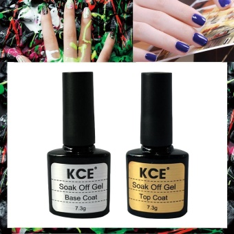 2 pcs Top Coat + Base Coat Uv Gel Nail Polish Primer Nail Art KCE -intl