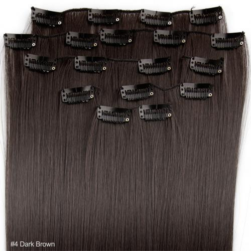 20 4 dark brown straight full head clip in synthetic hair 20 4 dark brown straight full head clip in synthetic hair extensions lazada ph pmusecretfo Images
