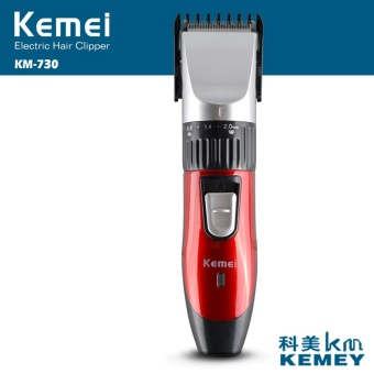 2017 New Rechargeable Waterproof KM- 730 Hair Clipper BeardElectric Hair Trimmer Mustache Shaving Haircut(RED) - intl