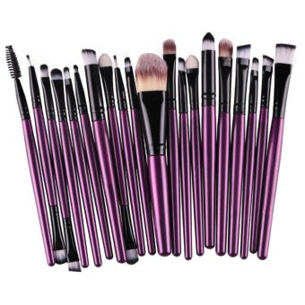 20PC Cosmetic Makeup Sets Brush Lip Makeup Brush Eyeshadow Brushkit -purple
