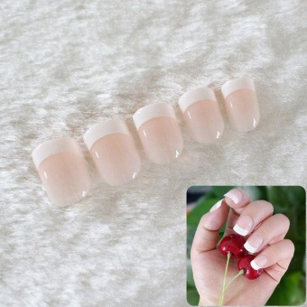 24pcs Acrylic Design False French Nails Full Nail tips Fake ArtCover Manicure - intl