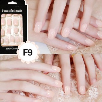24Pcs Star French Acrylic False Fake Nail Art Fingernail Full Tips Box Set Light Flesh - intl