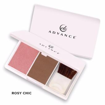 2PCS Ever Bilena Advance Blush On Duo (Rosy Chic)