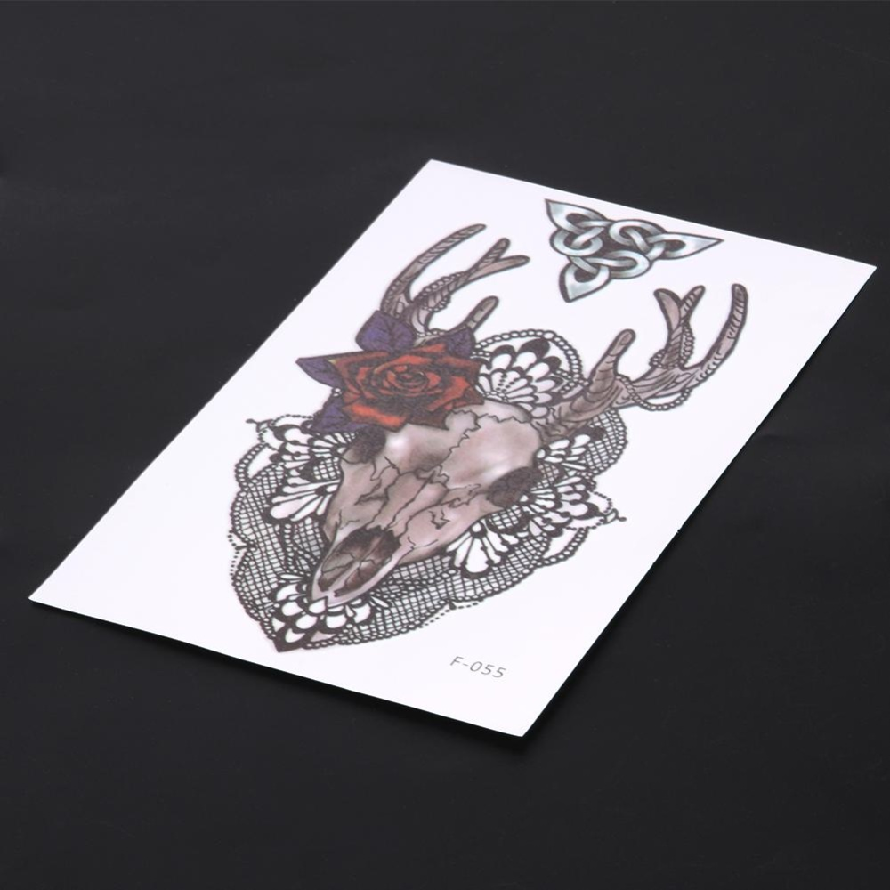 2pcs Large Arm Body Waterproof Fake Sticker Removable TemporaryTattoo - intl