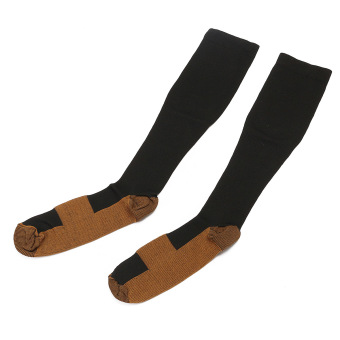 2Pcs Unisex Copper Infused Anti-Fatigue Compression Socks Varicose Vein Stocking L/XL