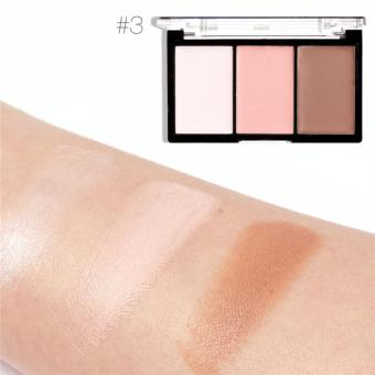 3 Color Waterproof Cream Highlighter & Contour Palette #03 (13g)