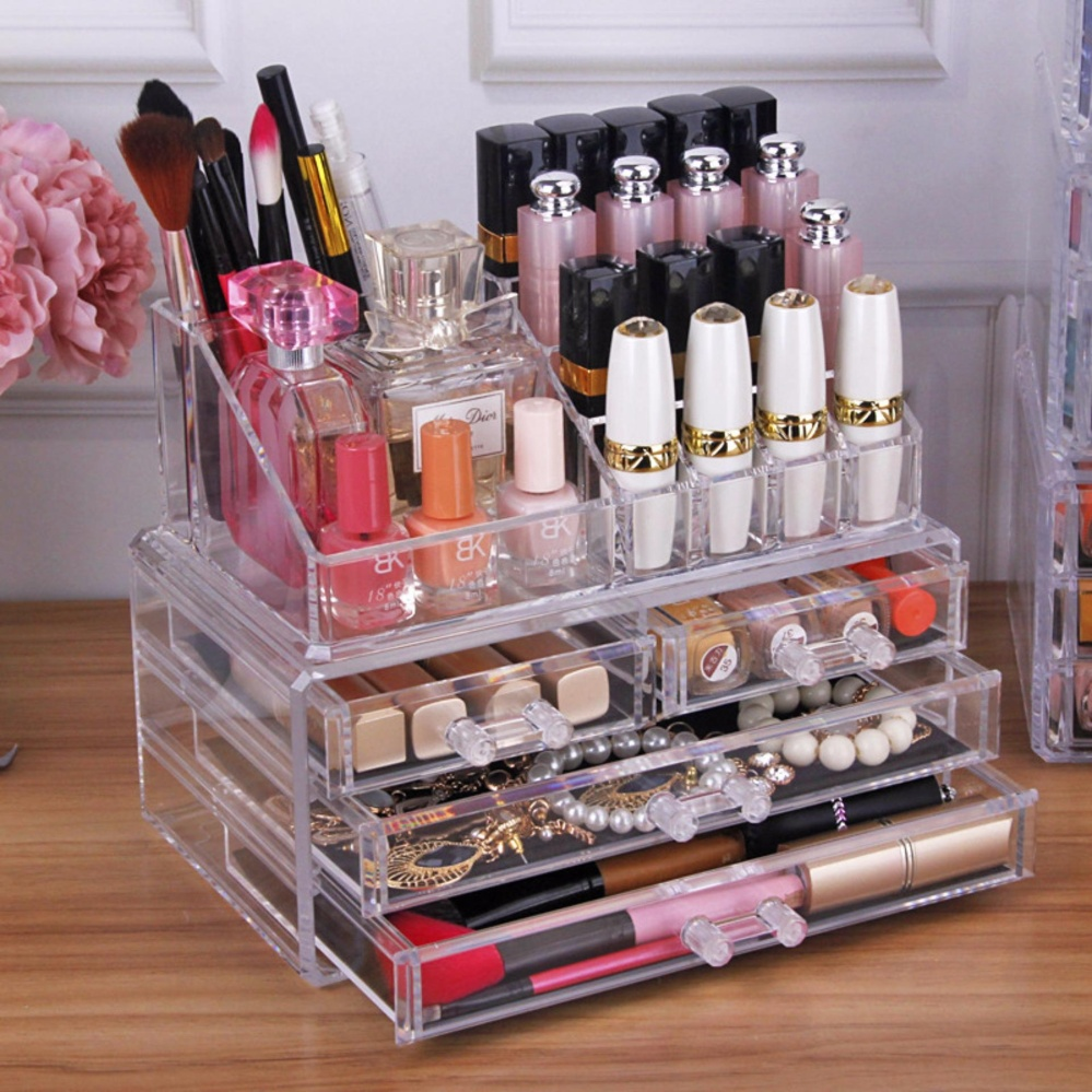 Philippines 3 Layers Clear Cosmetic Drawers Makeup Jewelry Storage