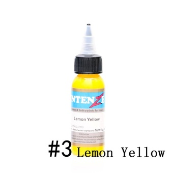 30ml/Bottle Professional Tattoo Inks 14 Colors Tattoo Pigment Inks Set for Body Tattoo Art Kit Beauty (3# Lemon Yellow) - intl