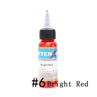 30ml/Bottle Professional Tattoo Inks 14 Colors Tattoo Pigment Inks Set for Body Tattoo Art Kit Beauty (6# Bright Red) - intl