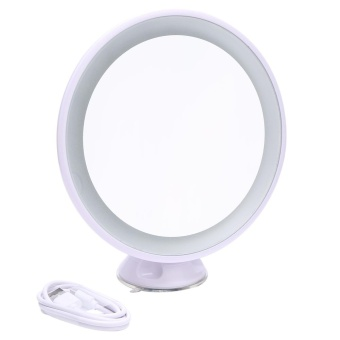 360 Rotation LED Light Cosmetic Beauty Magnified Vanity 5x Mirror - intl