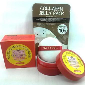 3W Clinic Natural Make-up Powder #10 with FREE Mask Pack Korean Cosmetics