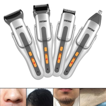 4 in 1 Washable Mens Eletric Nose Hair Clipper Trimmer Bead HairShaver Cutter Set with Comb - intl - 2