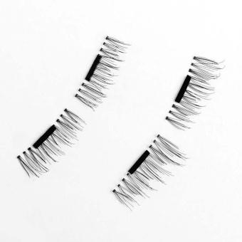 4 Pairs 3D Magnetic False Eyelashes Natural Soft False Eye Lashes - intl - 3