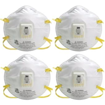 4 PCS. 3M 8210V N95 Particulate Respirator w/ Cool Flow Valve DustFace Mask Respiratory Protection