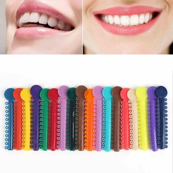 40pcs Sticks Multi Color Dental Ligature Ties Orthodontics Elastic Plastic Bands - intl
