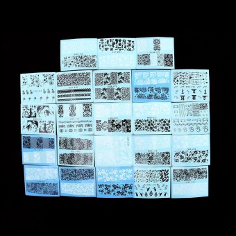 48 Sheets Lace Flower Nail Art Water Transfer Stickers ManicureDecals - intl - 5