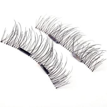 4pcs (1 Pair) Magnetic Eye Lashes 3D Reusable False MagnetEyelashes Extension - intl - 4