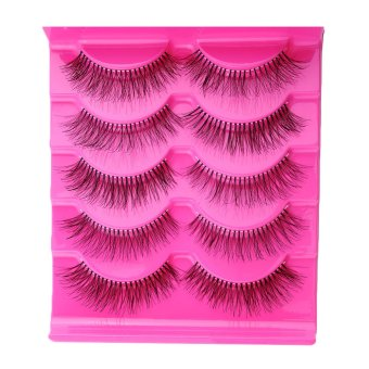 5 Pairs Natural Eye Lashes Extension Beauty Makeup Long Fake False Eyelashes - intl