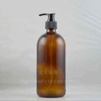 500ml black with pressure pump head cleansing oil shampoo liquid bottle brown Essential Oil Bottle