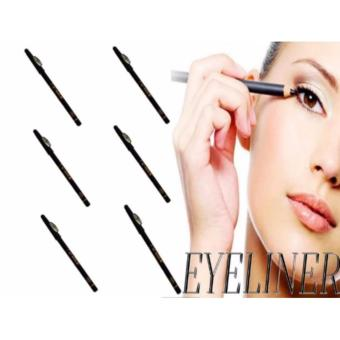 6 Pcs. Long-lasting Waterproof Eye & Lip Liner Pencil (Black) 27g