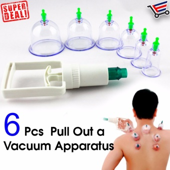 6 Pcs Set Pull Out Vacuum Apparatus Traditional Ventosa SelfTreatment at Home