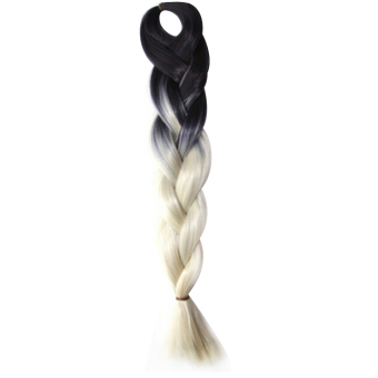 60cm Jumbo Braid Hair Synthetic Twists Braiding Hair Extension Hair Pieces Braids Ombre Black to White