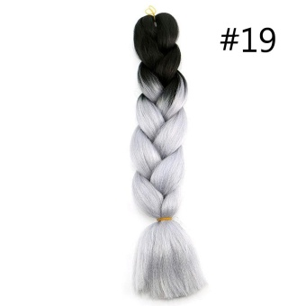 60CM Kanekalon Ombre Synthetic Jumbo Braiding Hair Extension Afro Twist Braids 19# - intl