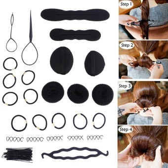 65Pcs Magic Hair Twist Styling Set Hairpins Bun Maker Braid Tools Kit - intl