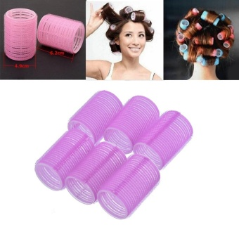 6Pcs Self Grip Hair Rollers DIY Hair Curlers 4cm Random Color -intl